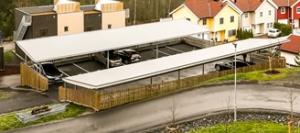 Garasjeanlegget i Stenbråtlia